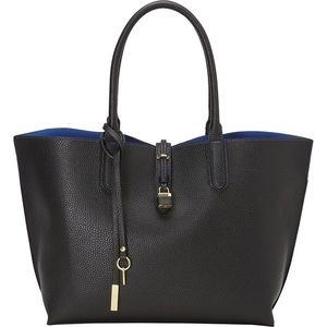 Tutilo Carry The Day Bag NWOT Black Leather Tote